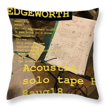 Edgeworth Acoustic Solo Tape H Throw Pillow