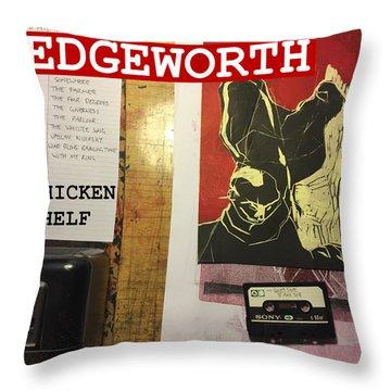 Edgeworth Chicken Shelf Cover Throw Pillow