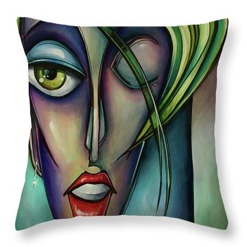 Edgey Throw Pillow by Michael Lang