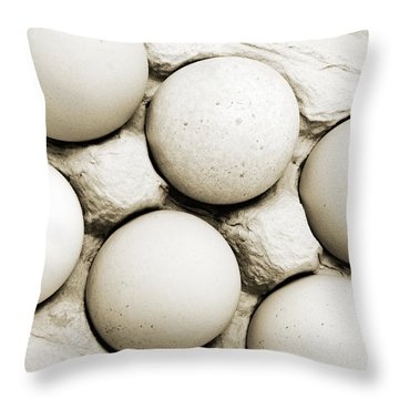 Edgy Farm Fresh Eggs Throw Pillow by Andee Design