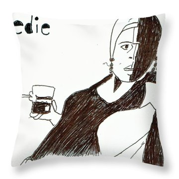 Edie #1 Throw Pillow by Phil Strang