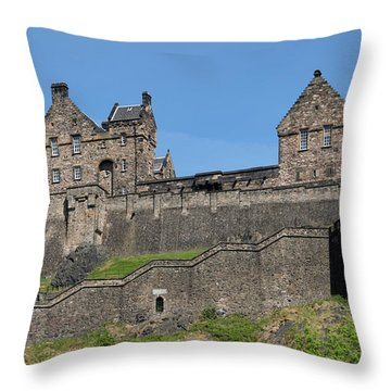 Throw Pillow featuring the photograph Edinburgh Castle by Jeremy Lavender Photography