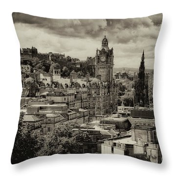 Throw Pillow featuring the photograph Edinburgh In Scotland by Jeremy Lavender Photography