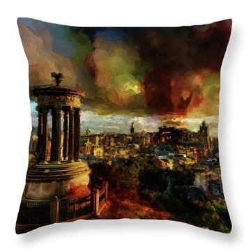 Edinburgh Scotland 01 Throw Pillow