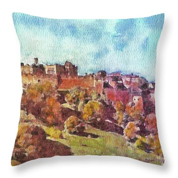 Edinburgh Skyline No 1 Throw Pillow
