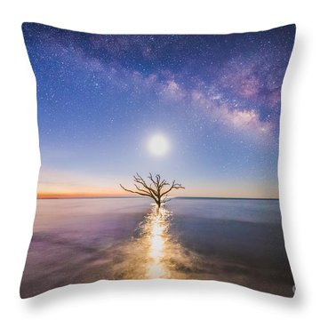 Edisto Island Milky Way Throw Pillow