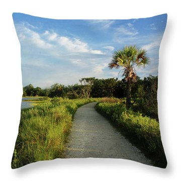 Throw Pillow featuring the photograph Edisto by Jessica Brawley