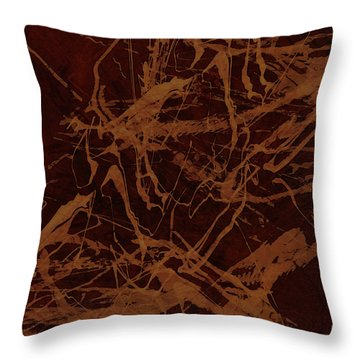 Edition 1 Rust Throw Pillow