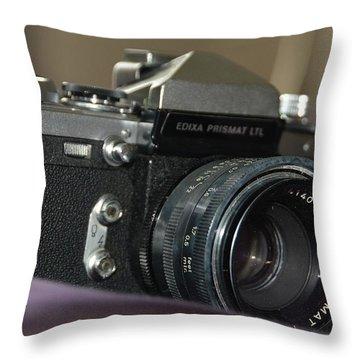 Throw Pillow featuring the photograph Edixa Prismat L T L by John Schneider
