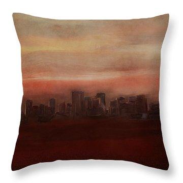 Edmonton At Sunset Throw Pillow