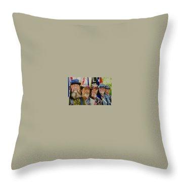 Edmund Ruffin Color Guard Throw Pillow