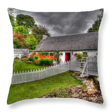 Edradour Distillery Shop Throw Pillow