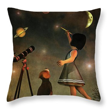Educating Astronomy Throw Pillow