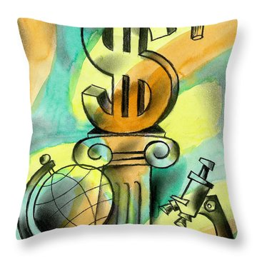 Education And Money Throw Pillow
