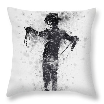 Edward Scissorhands 01 Throw Pillow by Aged Pixel