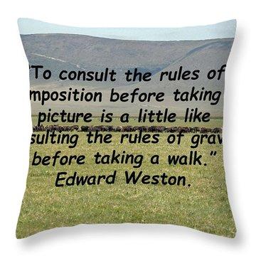Edward Weston Quote Throw Pillow