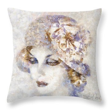 Edwardian Elegance Throw Pillow by Shirley Stalter