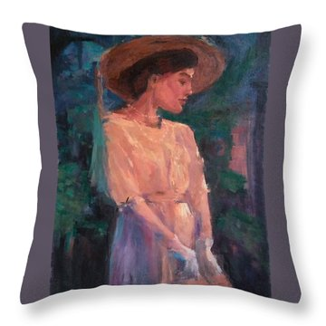 Edwardian Katie #1 Throw Pillow by Brian Kardell