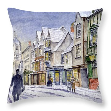 Edwardian St. Aldates. Oxford Uk Throw Pillow by Mike Lester