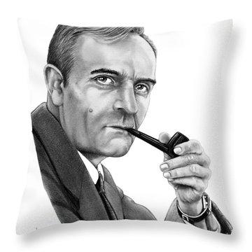 Edwin Hubble Throw Pillow by Murphy Elliott