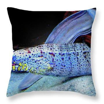 eel Throw Pillow by Jane Schnetlage