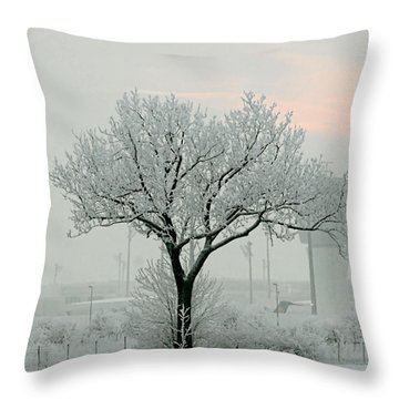 Eerie Days Throw Pillow by Christine Till