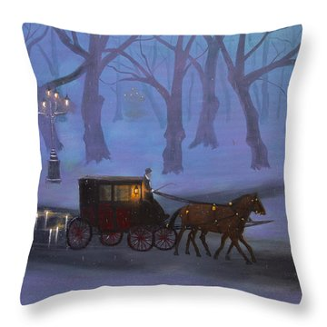 Eerie Evening Throw Pillow