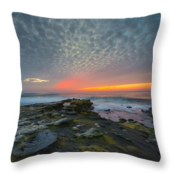 Eerie Sunset La Jolla Cove San Diego Throw Pillow