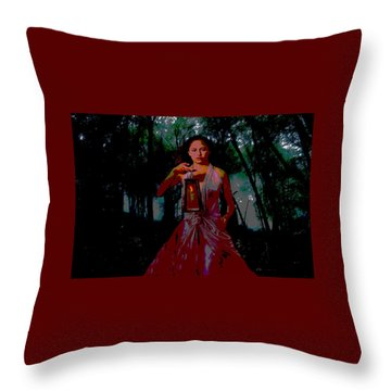 Throw Pillow featuring the photograph Eerie Woods by Brian Hughes