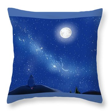 Eeyore A Lonely Night Throw Pillow
