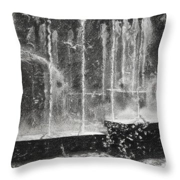 Effervescence Fountain In Milano Italy Throw Pillow by Kelly Borsheim