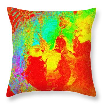 Throw Pillow featuring the digital art Efflorescence by Charmaine Zoe