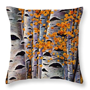 Tree Trunks Throw Pillows