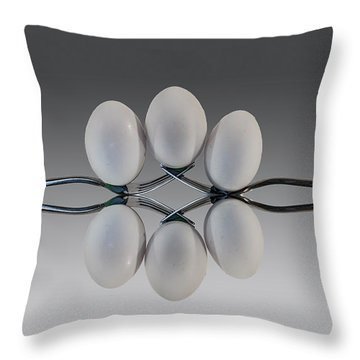 Egg Balance Throw Pillow
