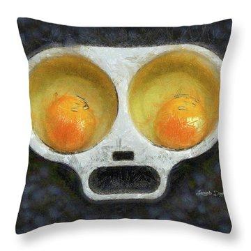 Egg Face Throw Pillow