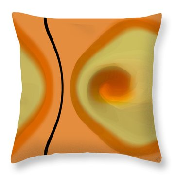 Egg On Broken Plate Throw Pillow