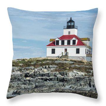 Throw Pillow featuring the photograph Egg Rock Lighthouse by Anthony Baatz