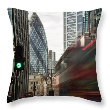 Egg Shaped Building A Throw Pillow