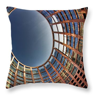 Throw Pillow featuring the photograph Egg by Stefan Nielsen
