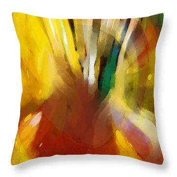Egg Stop Throw Pillow by Constance Krejci