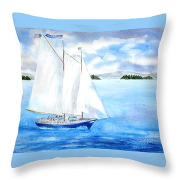 Eggemoggin Cruise Throw Pillow