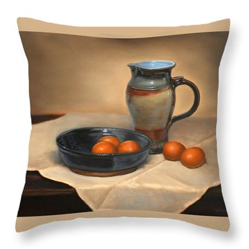 Eggs And Pitcher Throw Pillow