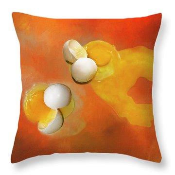 Eggs Throw Pillow by Carolyn Marshall