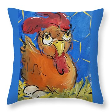 Eggs For Breakfast Throw Pillow