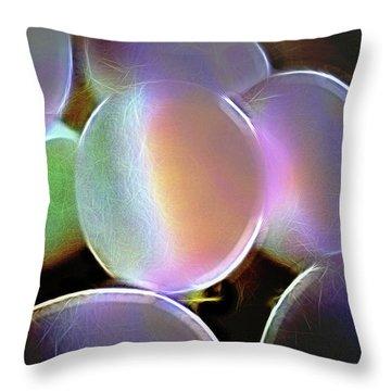 Eggs In A Fractal Mood Throw Pillow