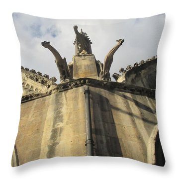Throw Pillow featuring the photograph Eglise Saint-severin, Paris by Christopher Kirby