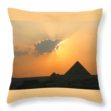 Egpytian Sunset Behind Cloud Throw Pillow