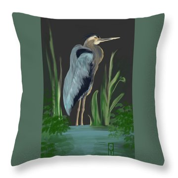 Egret I Throw Pillow