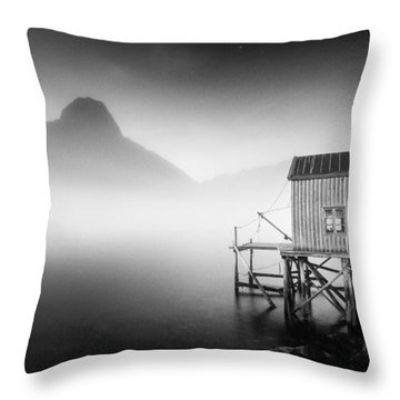 Egulfed By Mist Throw Pillow