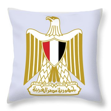 Throw Pillow featuring the drawing Egypt Coat Of Arms by Movie Poster Prints